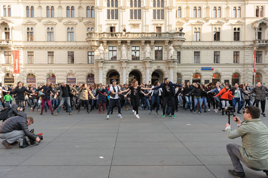 Flashmob 20.03.2015 © Arno Friebes